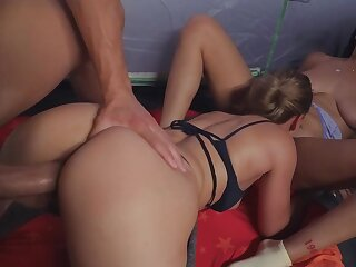 Horny baffle gets the privilege of smashing these babes asses