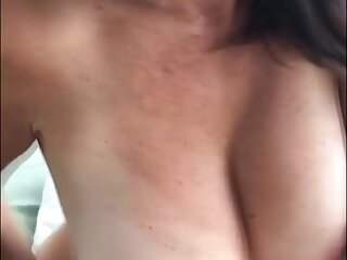 Horny cougar working over a unused dick til it cums on say no to boucy juggs