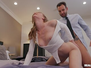 The way this slutty blonde rides cock is fanatically addictive