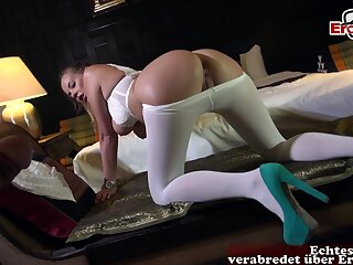 German anal in all directions pantyhose fuck milf
