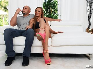 Aroused redhead spreads for the dick in a charming XXX play