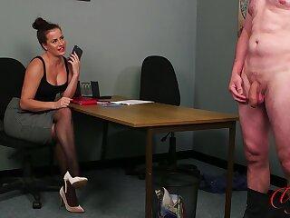 Hot ass newborn Sarah Fair game drops her threads to tease a naked guy