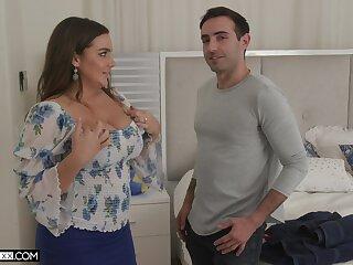 Chubby wife Natasha Correct gives a blowjob and gets fucked good