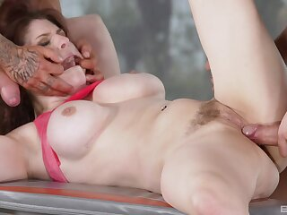 Fucked and jizzed in the brush first DP tryout